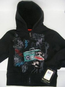 PAUL FRANK Rock Star Julius & Friends UK Music Chalk Art Fleece Hood