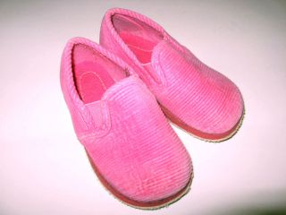 Toddler Girls Pink Corduroy Foamtreads Slippers Flats Shoes sz 8