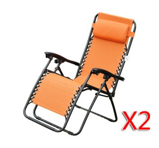 Zero Gravity Chair Folding Recliner Patio Outdoor Lounge Chairs