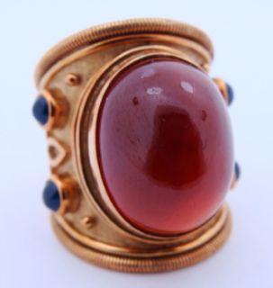 Ladies Designer Elizabeth Gage 18K Gold Ring