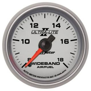 Lite II Electrical Air Fuel Ratio Gauge 2 1 16 Dia Silver Face