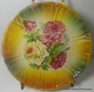 Antique Franz Anton Mehlem Royal Bonn Germany Porcelain Floral Plate
