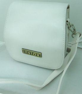 Fuji Instax Mini 7S Camera Leather Case Bag White Color