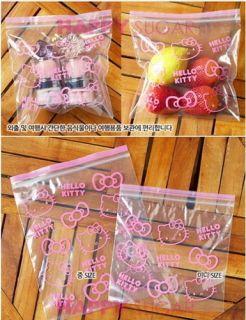 Hello Kitty Food Storage Kitchen Zipper Bags Reusable