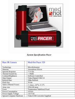 Med Hot Hi Def Medical Thermal Imaging Pacer 320 Camera & Laptop