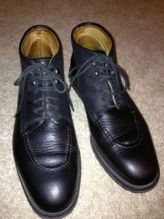 MENS BALLY BLACK GALLAWAY BOOTS 8 5 ITALY IN VERY GOOD U C