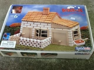 Miniature Brick Laying Building Kit Masonry Construction Toy Game Set