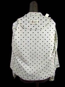 Silver Black Polka Dot Donovan Galvani Knit Blouse Top Shirt S