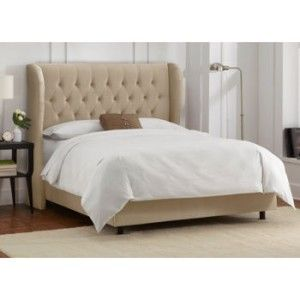 Allegro Cream Full Headboard, Requires box spring and mattress (not