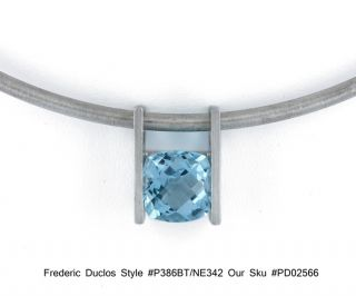 Frederic Duclos P386BT NE342 Sterling Silver and Blue Topaz Pendant