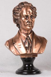 inch Copper Composer Frederic Chopin Head Bust Figure