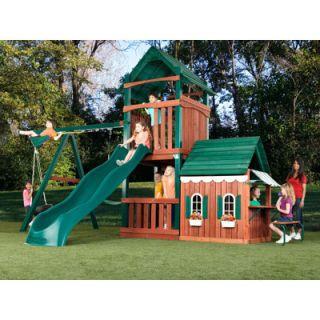 Swing N Slide Summer Fun Swing Set Playground with Playhouse Climbing