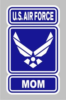 AF 1042 Air Force Mom Wings Logo Military Bumper Sticker Window Decal