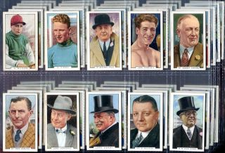 Tobacco Card Set Gallaher Sporting Personalities Sports Stars 1936