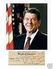 2012 Leaf Oval Office Cut Signature Ronald Reagan/Jimmy Carter 2/3