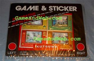 80s 4 Official Game Watch Hologram Mini Sticker New Retro Nintendo
