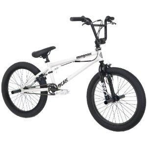 Boys 20 BMX White Mongoose R1358 Scan Freestyle Bike Bicycle