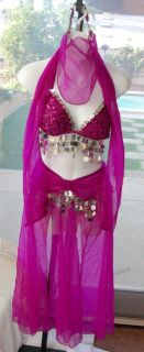 Fredericks of Hollywood Adult Sexy Genie Pink Halloween Costume Sz