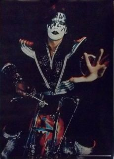 Kiss Ace Frehley Chopper Motorcycle Poster 1977