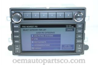 Ford Lincoln Mercury Navigation GPS Radio 6 CD Player Changer