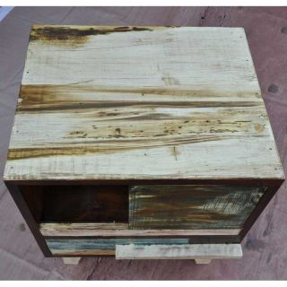 Rustic Distressed Entertainment Media Center Storagetv Stand