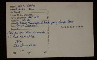 1966 Small Airplane Short Wave Radio Brunken Garber OK