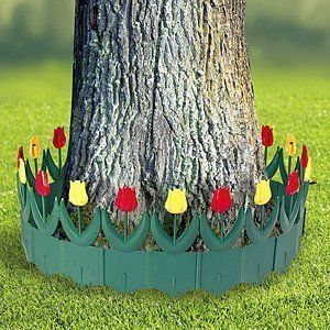 Yard Lawn Garden Plastic Floral Tulip Patio Border Edging Fence