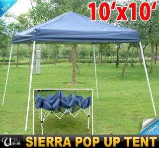 New 10x10 EZ Outdoor Sierra Pop Up Canopy Party Tent Gazebo