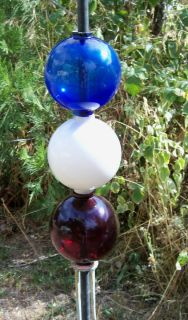Red White Blue Three Lightning Rod Ball Combo