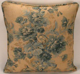 Ralph Lauren 18 Gabrielle Floral Blue Designer Pillow