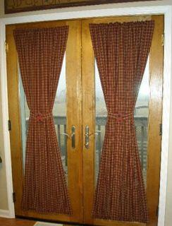 WINDOW TREATMENTS COUNTRY CURTAINS STURBRIDGE WINE FR. DOOR PANEL