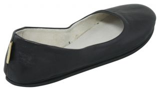 French Sole New York FS NY Sloop Black Nappa Leather Flats 8 5 New
