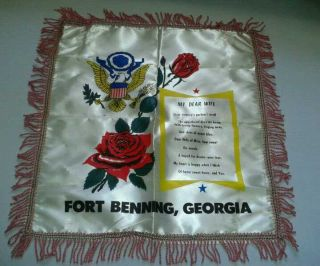 World War II Army Fort Benning Sweetheart Pillow Case