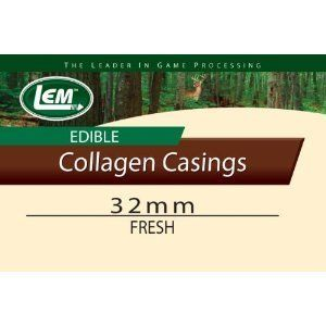 LEM Products Fresh Clear Edible Collagen Casing 32mm New Kitchen Camp