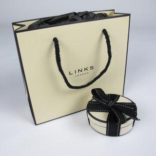 Genuine Links of London 39 Bar Black White Friendship Bracelet
