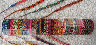PERUVIAN WOVEN WOOL FRIENDSHIP BRACELETS ANDEAN BRACELETS FROM CUZCO