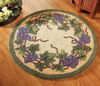 Kitchen decor grape desing tuscany wine bread canister box for Kitchen rugs with fruit design