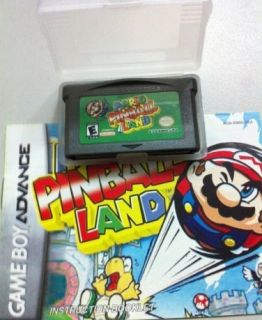 Mario Pinball Land Gameboy Advance SP DS GBA Game Boy Games