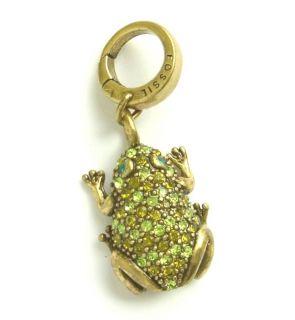 New Fossil Brand Frog Charm Bracelet Necklace Vintage Gold