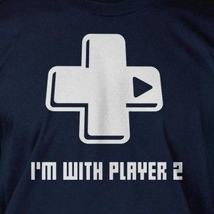 Im With Player 2 Video Game Gamer Computer Geek Nerd Funny Shirt T