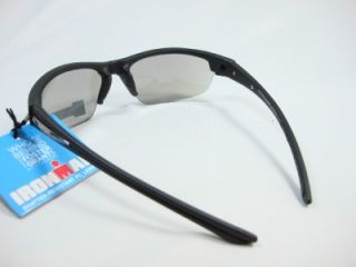 Foster Grant Iron Man Sports Black Blue Lens Sunglasses Endurance