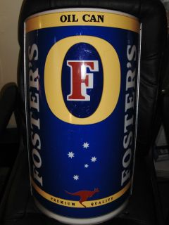 FOSTERS BEER ALE HUGE GIANT OIL CAN BAR LIGHT SIGN AUSTRALIA MIRROR