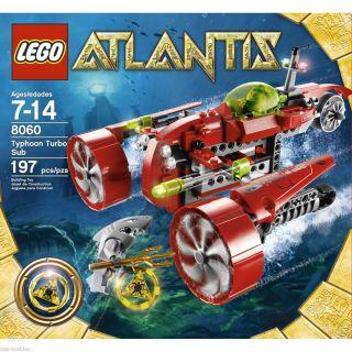 New in Box Collectible Game LEGO Atlantis Typhoon Turbo Sub 8060 7
