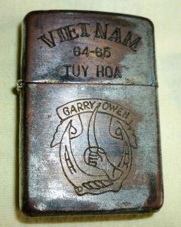 Lxxiv ZIPPO LIGHTER GARRYOWEN AIR CAVALRY Vietnam War 1964 1965