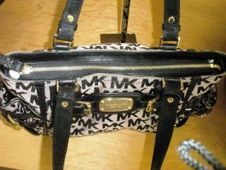 Michael Kors Gansevoort LG Satchel Handbag MK Sig Black