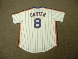 Gary Carter Mets 1986 Throwback Home Jersey XL