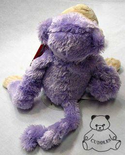Monkey Purple Sound Kiss Noise Ganz Plush Toy Stuffed Animal Ape