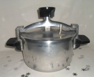 Vtg Wear Ever Low Pressure Cooker Fryer Chicken Bucket Pot 4 Qt