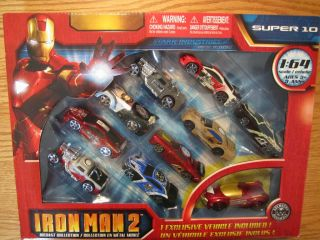 Iron Man 2 Diecast Collection Metal Cars 1 64 10 Cars in All