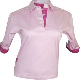 Womens Rugby Shirt Semi Fitted Stretch Drill Ladies FR73 Front Row s M